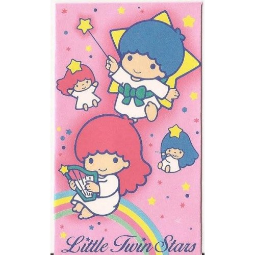 Ano 1987. Mini-Envelope Little Twin Stars Vintage Sanrio