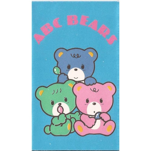 Ano 1985. Mini-Envelope ABC Bears Vintage Sanrio