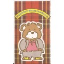 Ano 1985. Mini-Envelope Gentle Bear League Vintage Sanrio