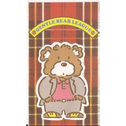 Ano 1985. Mini-Envelope Gentle Bear League Vintage Sanrio