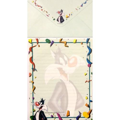 Conjunto de Papel de Carta ANTIGO Looney Tunes 03