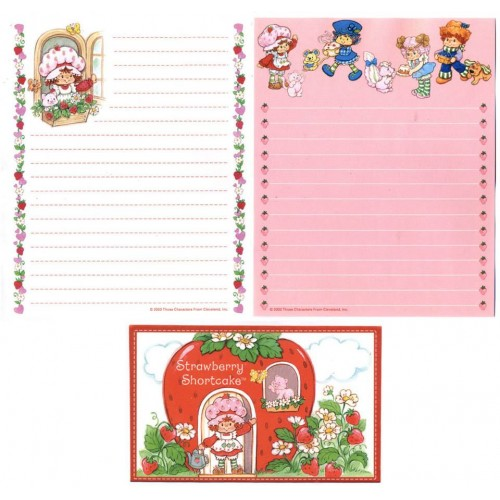 Conjunto de Papel de Carta IMPORTADO Strawberry Shortcake