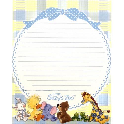 Papel de Carta IMPORTADO Suzy's Zoo M4