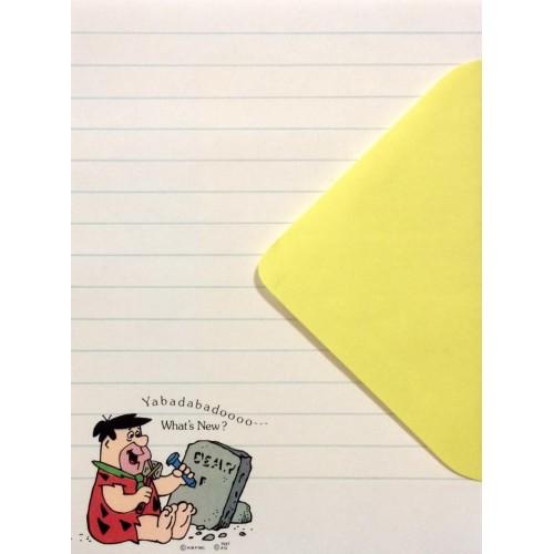 Conjunto de Papel de Carta ANTIGO IMPORTADO Os Flintstones
