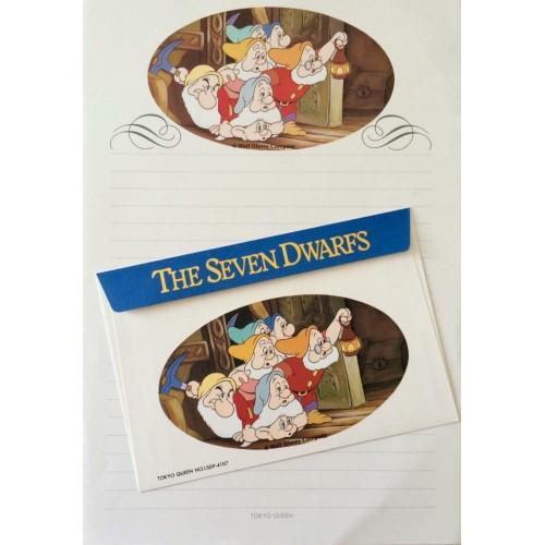Conjunto de Papel de Carta VINTAGE Disney - The Seven Dwarfs 3