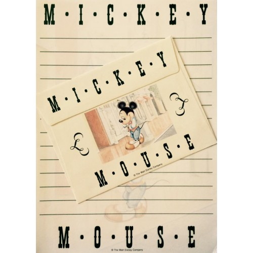 Conjunto de Papel de Carta VINTAGE Disney Mickey Mouse 08