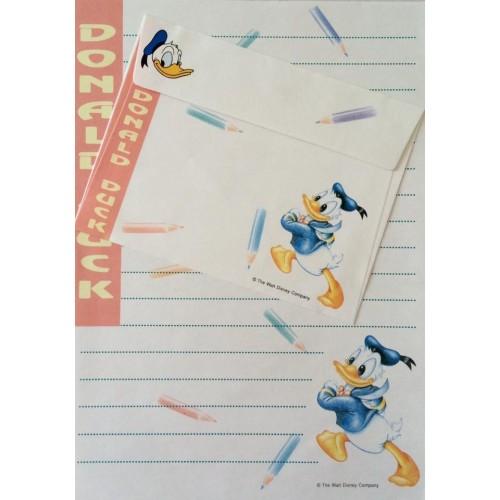 Conjunto de Papel de Carta VINTAGE Disney - Donald Duck