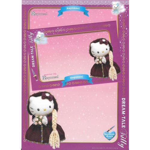 Ano 2004. Papel de Carta DREAM TALE Kitty - Rapunzel - Sanrio