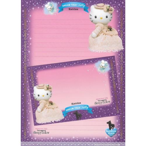 Ano 2004. Papel de Carta DREAM TALE Kitty - Sleepy Hollow - Sanrio