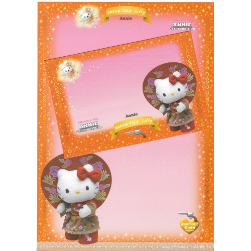 Ano 2004. Papel de Carta DREAM TALE Kitty - Annie - Sanrio