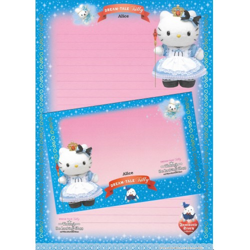 Ano 2004. Papel de Carta DREAM TALE Kitty - Alice - Sanrio
