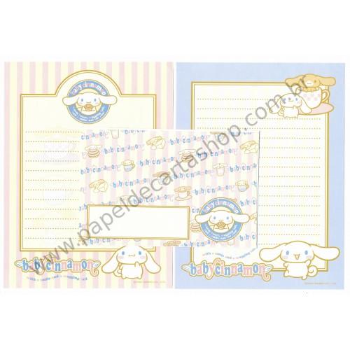 Ano 2002. Conjunto de Papel de Carta Baby Cinnamon BC Sanrio