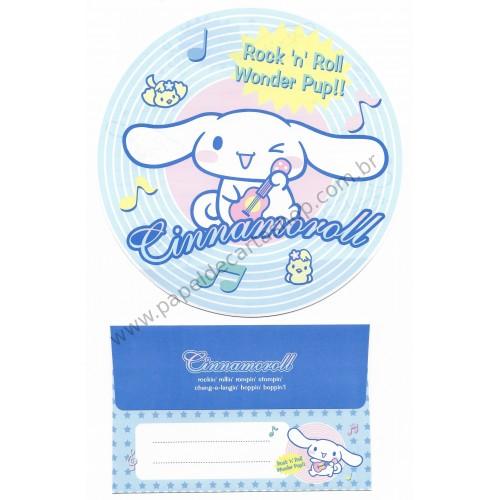 Ano 2005. Conjunto de Papel de Carta Cinnamoroll Rock'n'Roll Sanrio