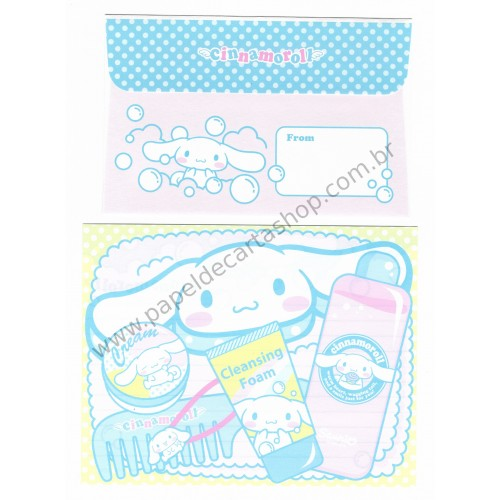 Ano 2003. Conjunto de Papel de Carta Cinnamoroll Soap Sanrio