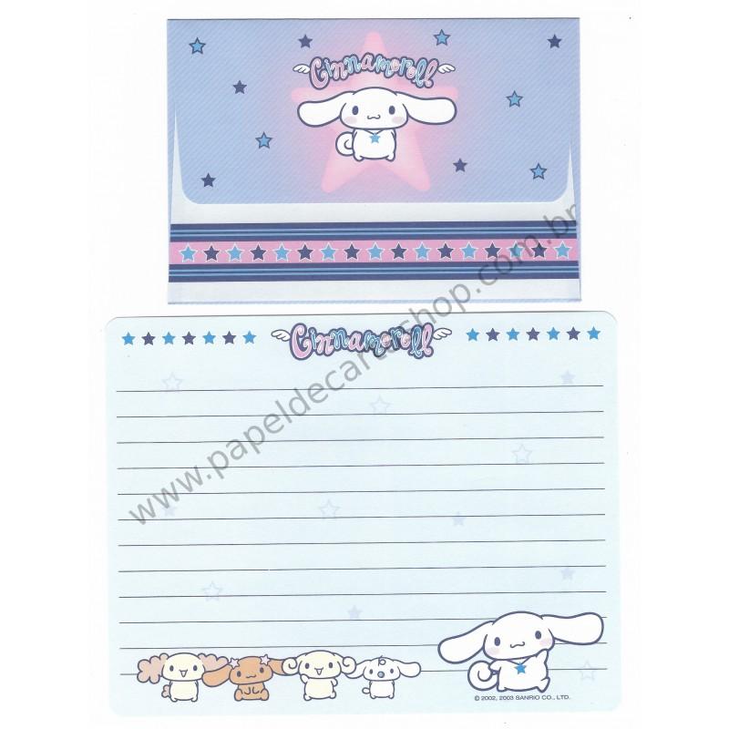 Ano 2003. Conjunto de Papel de Carta Cinnamoroll Stars Sanrio