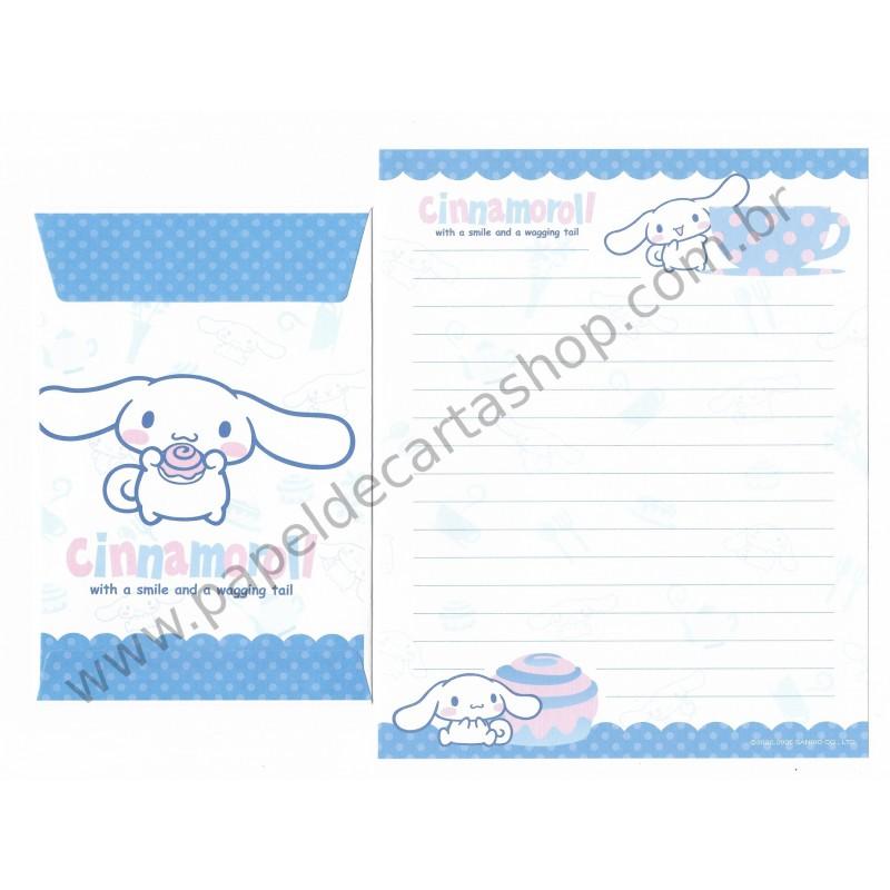 Ano 2005. Conjunto de Papel de Carta Cinnamoroll Candy Br Sanrio