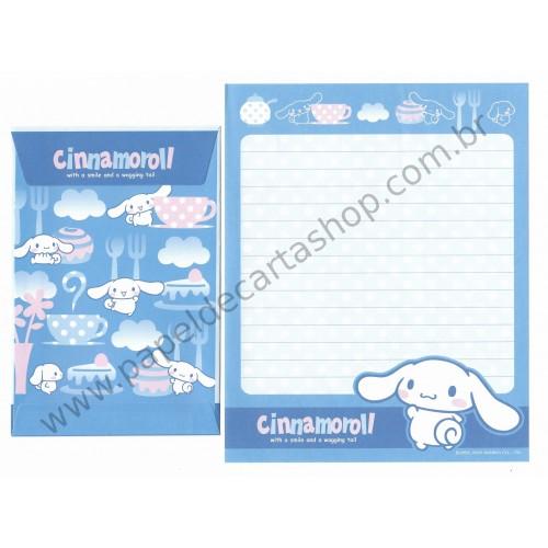 Ano 2005. Conjunto de Papel de Carta Cinnamoroll Candy Az Sanrio