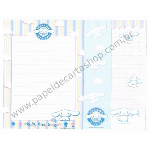 Ano 2002. Kit com 3 Papéis de Carta Baby Cinnamon BC Sanrio