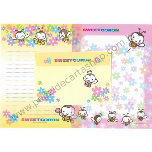 Ano 2002. Conjunto de Papel de Carta Sweetcoron SW Sanrio
