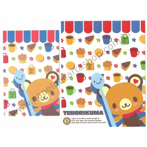 Ano 2007. Conjunto de Papel de Carta Tenorikuma Take Out OK! Sanrio