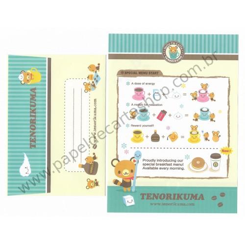 Ano 2006. Conjunto de Papel de Carta Tenorikuma - Hello I'm Latte Sanrio