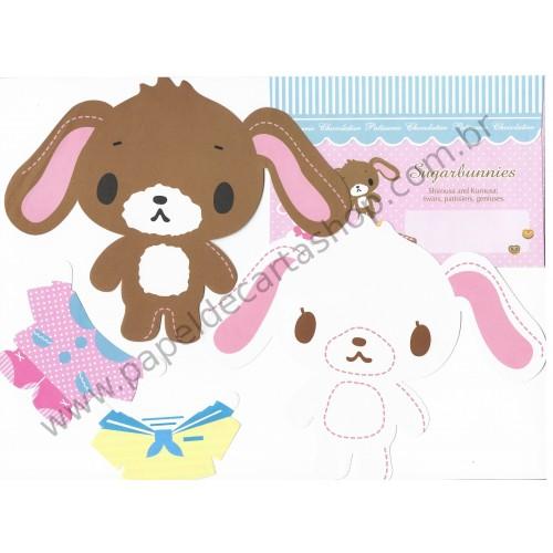 Ano 2008. Conjunto de Papel de Carta Sugarbunnies Patisserie Chocolatier Sanrio