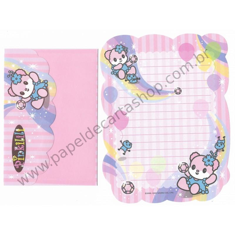 Ano 2003. Conjunto de Papel de Carta Pinkilili Sanrio