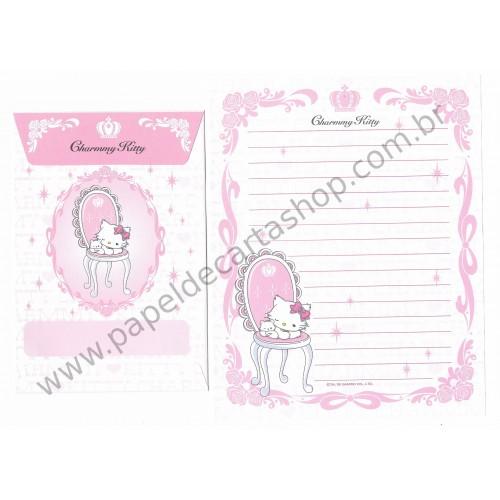 Ano 2006. Conjunto de Papel de Carta Charmmy Kitty Pastinha Br Sanrio