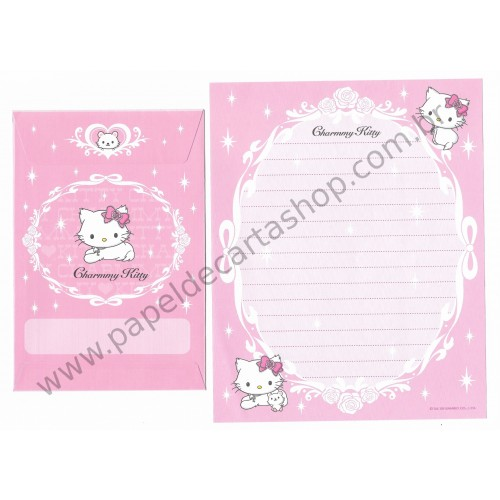 Ano 2006. Conjunto de Papel de Carta Charmmy Kitty Pastinha Rs Sanrio