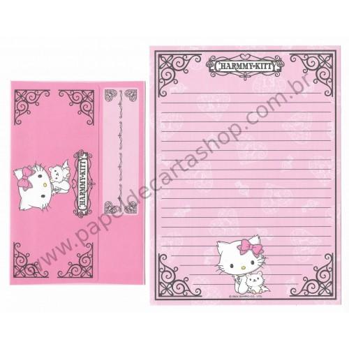 Ano 2004. Conjunto de Papel de Carta Charmmy Kitty Primeiro Sanrio
