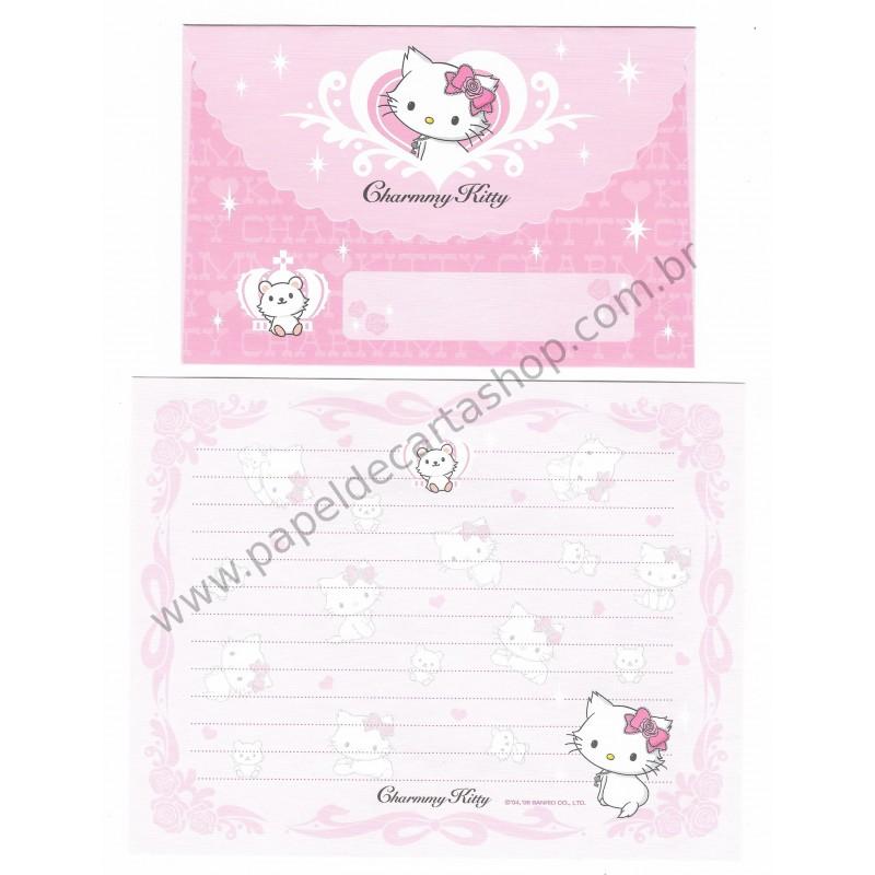Ano 2006. Conjunto de Papel de Carta Charmmy Kitty Dupla Sanrio
