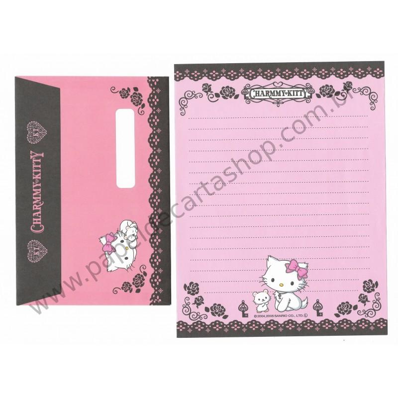 Ano 2005. Conjunto de Papel de Carta Charmmy Kitty RP Sanrio