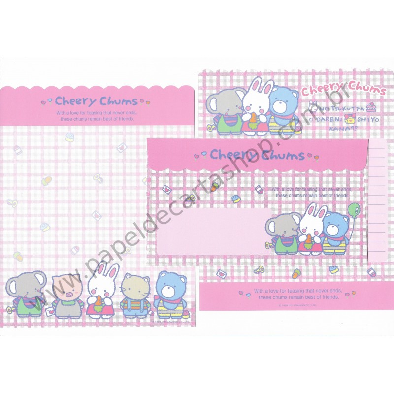 Ano 2015. Conjunto de Papel de Carta Cheery Chums My Lovely 80s Sanrio