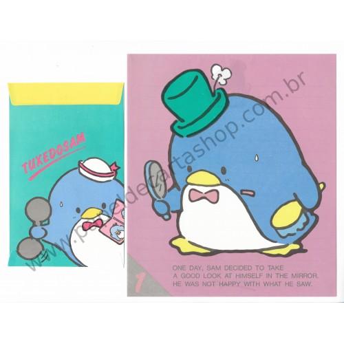 Ano 1984. Coleção de Papel de Carta Tuxedosam Vintage Sanrio