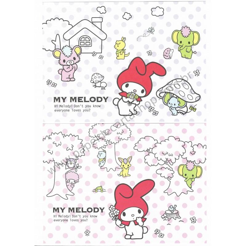 Ano 2008. Conjunto de Papel de Carta My Melody Sanrio