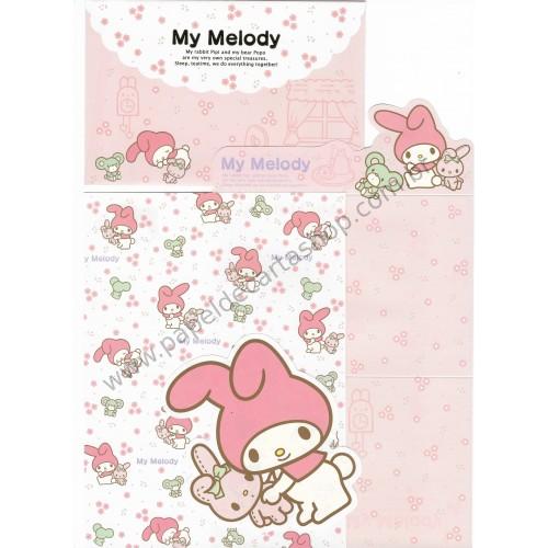 Ano 2009. Conjunto de Papel de Carta My Melody Pipi & Popo Sanrio