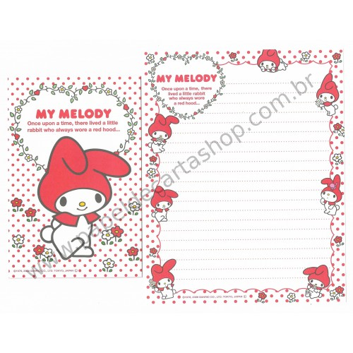 Ano 2009. Conjunto de Papel de Carta My Melody Red Hood Br Sanrio