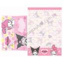 Ano 2006. Conjunto de Papel de Carta My Melody & Kuromi Sanrio