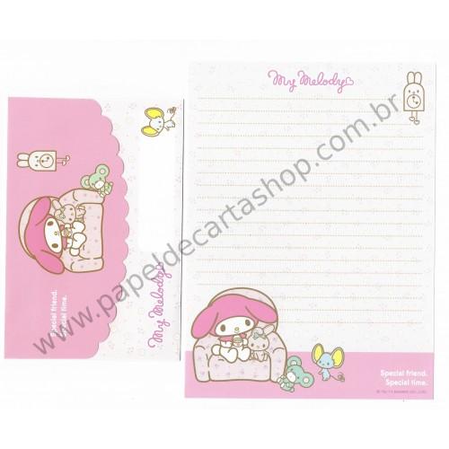 Ano 2011. Conjunto de Papel de Carta My Melody Butterflies Rs Sanrio