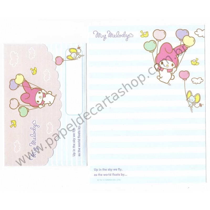 Ano 2011. Conjunto de Papel de Carta My Melody Butterflies Az Sanrio