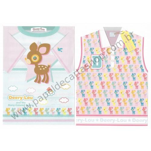 Ano 2003. Conjunto de Papel De Carta Deery-Lou T-Shirt Sanrio