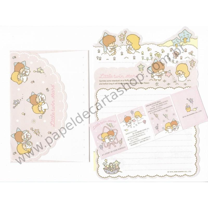Ano 2006. Conjunto de Papel de Carta Little Twin Stars Sanrio