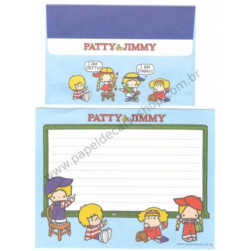 Ano 2003. Conjunto de Papel de Carta Patty & Jimmy Hello Sanrio