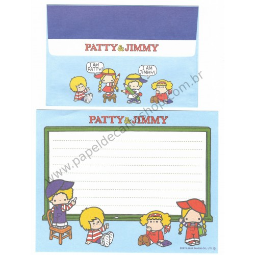 Ano 2003. Conjunto de Papel de Carta Patty & Jimmy Hello Sanrio