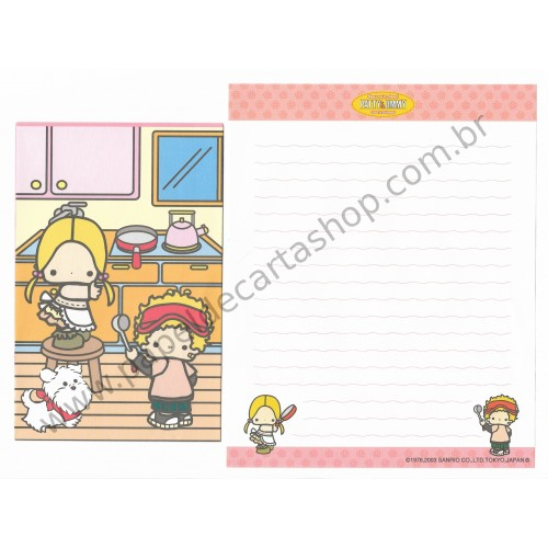 Ano 2003. Conjunto de Papel de Carta Patty & Jimmy RS Sanrio