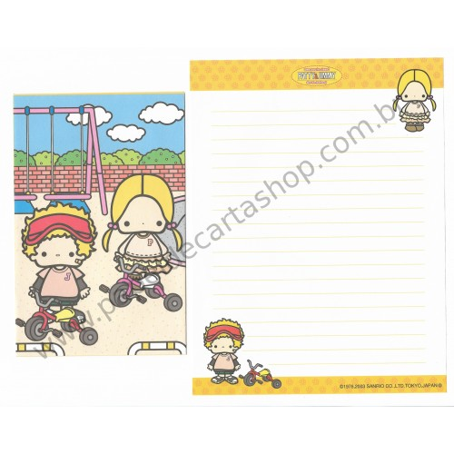 Ano 2003. Conjunto de Papel de Carta Patty & Jimmy AM Sanrio