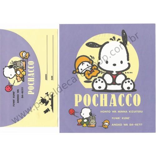 Ano 1993. Conjunto de Papel de Carta Pochacco CLL Antigo (Vintage) Sanrio