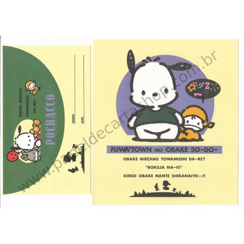 Ano 1993. Conjunto de Papel de Carta Pochacco CAM Antigo (Vintage) Sanrio