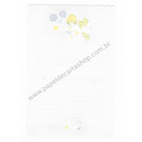 Conjunto de Papel de Carta Antigo (Vintage) Arisu No Heya (Lilás)