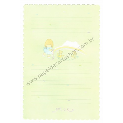 Papel de Carta Avulso Antigo (Vintage) Arisu No Heya (Verde)